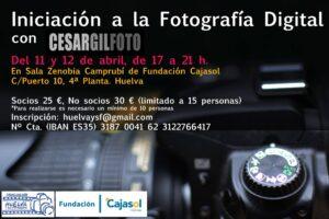 cartel taller iniciación foto